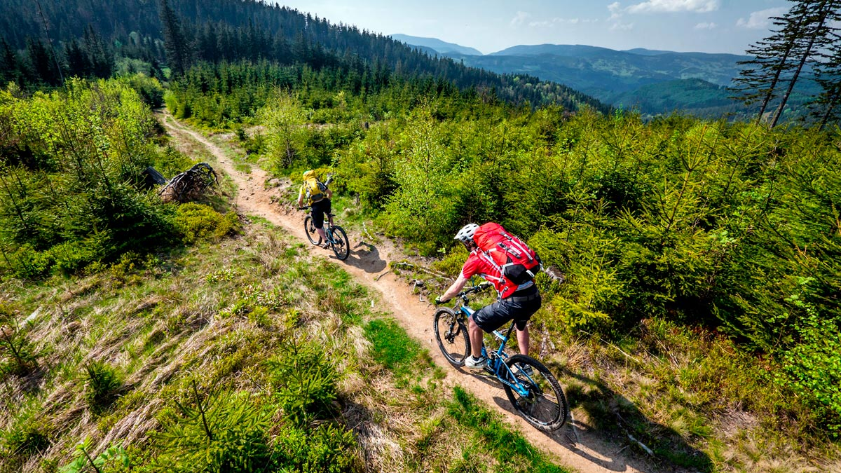 ruta bicicleta en chequia
