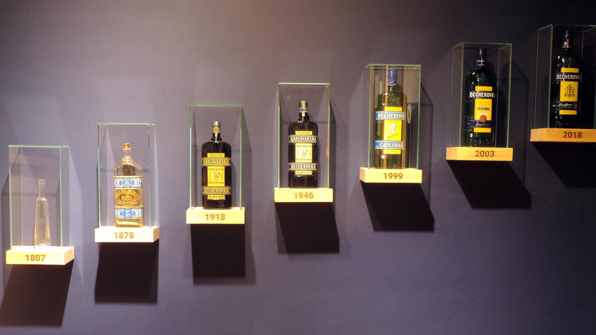Botellas de becherovka