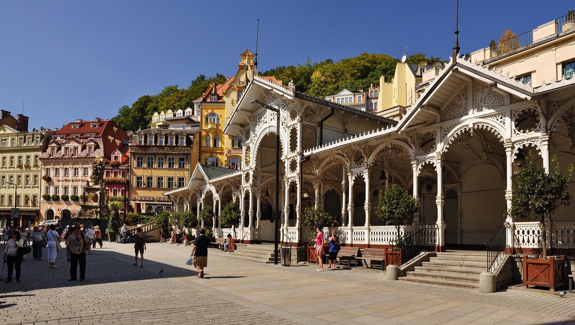 arquitectura de karlovy vary ciudad balneario